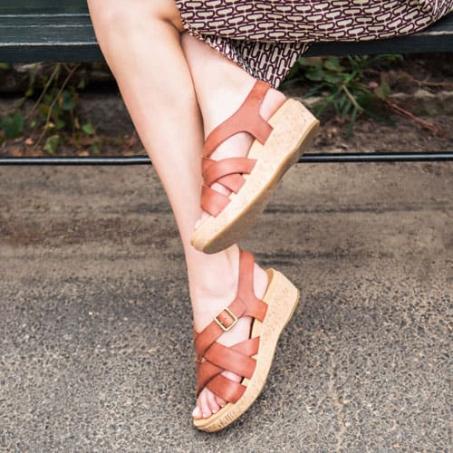 Featured style: Caroleigh sandal in Rust